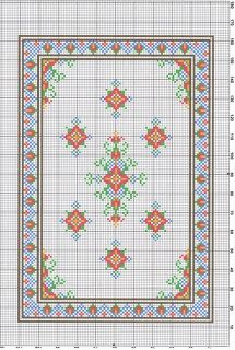 Cute cross stitch rug by Casey's minis.