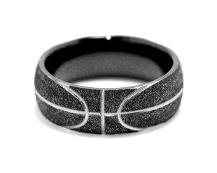 Basketball Wedding Ring, Sports Wedding Rings - Titanium-Buzz.com