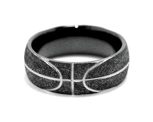 Basketball Wedding Ring, Sports Wedding Rings - Titanium-Buzz.com