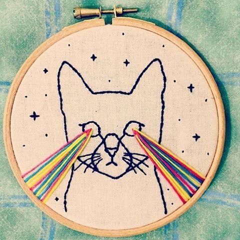 It's Fri-yay!!  Cosmic Cat by @trujiflautico