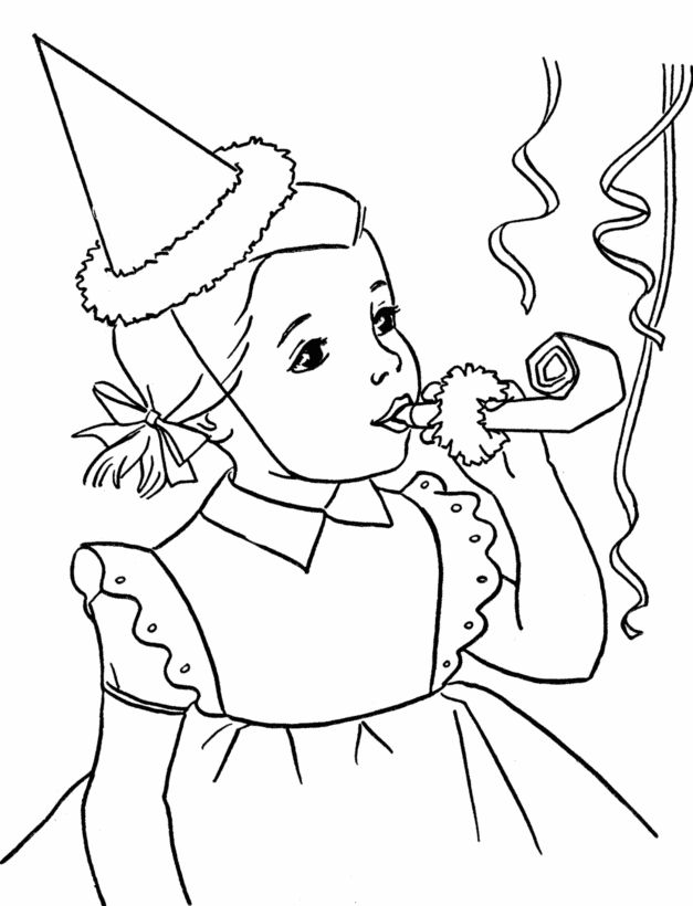 birthday party coloring pages bing images