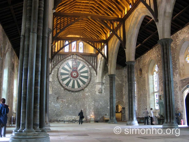 Winchester cathedral the great hall with king arthur 39 s round table 14th century on the wall - Round table winchester cathedral ...