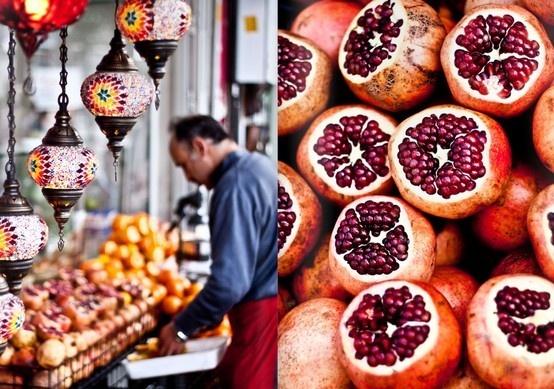 Istanbul: Pendants Lamps, Istanbul Turkey, Pomegranates Juice, Street Food, Colors, Anya Adorable, Istanbul Marketing, Lanterns, Mowiekay Magazines