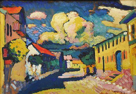 Wassily Kandinsky | Street in Murnau, 1908 | The Merzbacher <collection, Switzerland