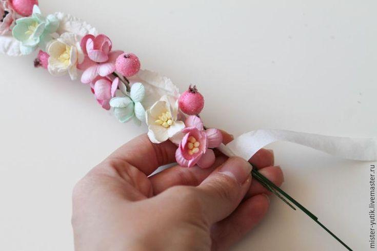 Создаем веночек с цветами за 30 минут - Ярмарка Мастеров - ручная работа, handmade