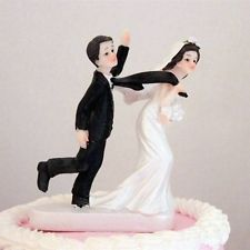 Reluctant Groom Funny Wedding Cake Toppers