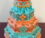 Native american themed wedding cake
