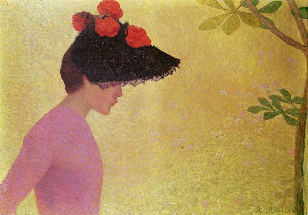 Profile of a Young Woman, c.1890 (oil on canvas) Maillol, Aristide (1861-1944)