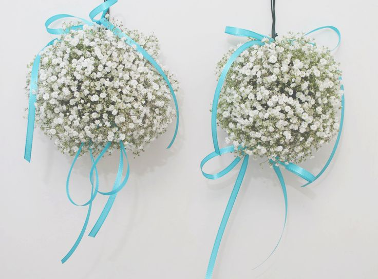 Babys breath snowball arrangements
