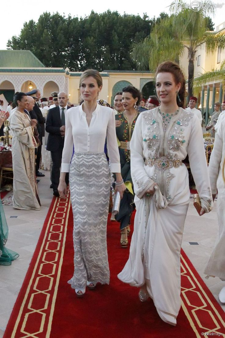 Lalla Salma of Morocco #Princess_Caftan #White