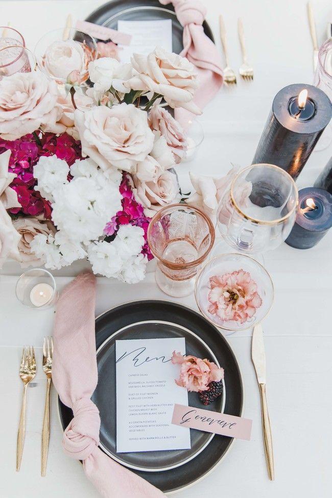 Pretty And Pink Modern Wedding Inspiration Wedding Modern