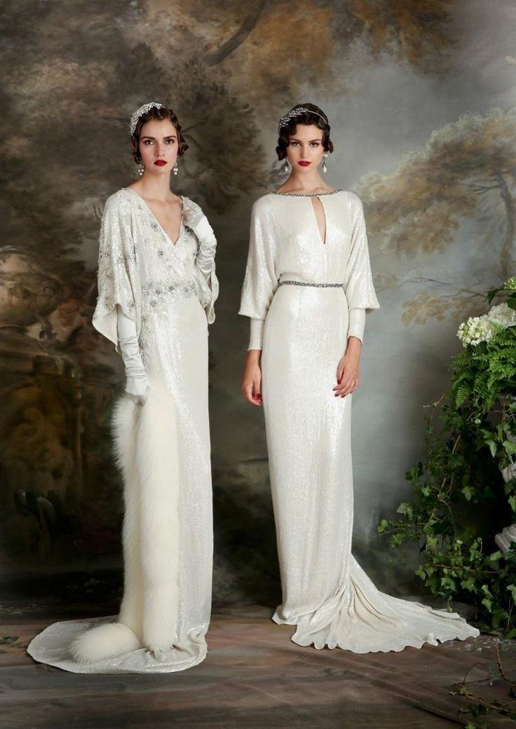 Weiße Kleider im 20er Jahre Stil