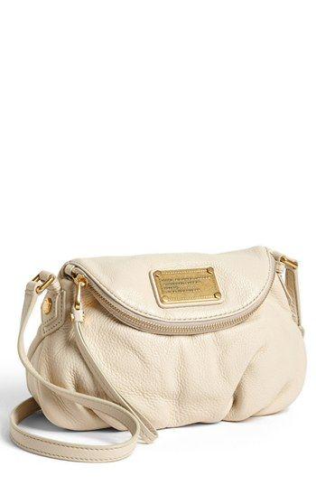 "MARC BY MARC JACOBS 'Classic Q Natasha - Mini' Crossbody Flap Bag available at #Nordstrom - ""Stone"" or Black?? UGH!! It's so beautifulllllll"