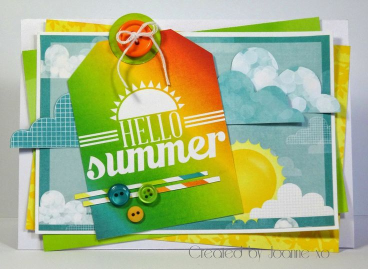 Summer themed card using BoBunny Papers