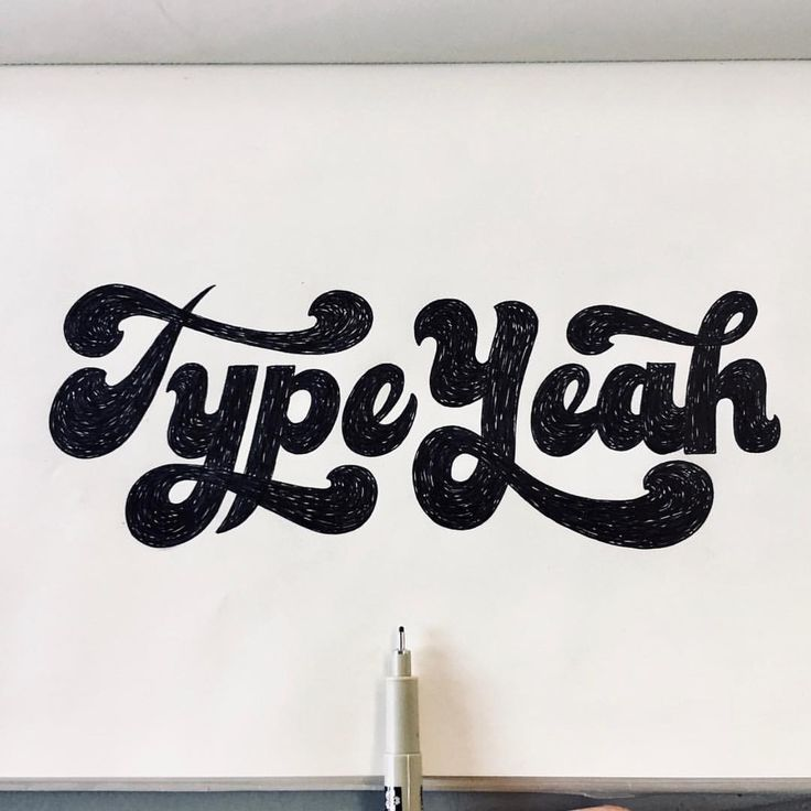 "(@typeyeah) on Instagram: ""This weeks epic #typeyeahtuesdays entry by @thattypeguy with his funky lettering of the…"""