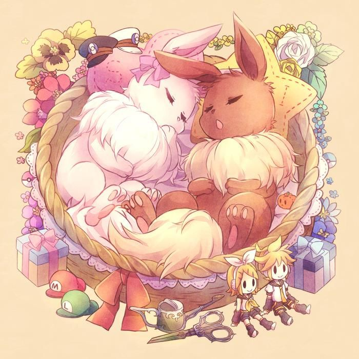 Evee and Sylveon i believe