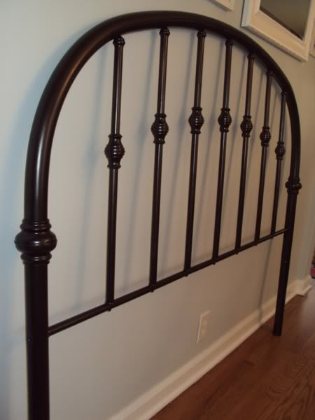 Goodwill Headboard Makeover Love the Rustoleum Carbon Mist will use that her DIY turned out fabulous!