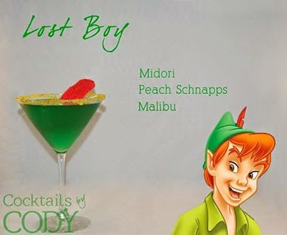 cocktail making at home, cocktails by cody, disney, disney inspired cocktails, disney themed cocktails, Life, walt disney alcoholic cocktails, peter pan