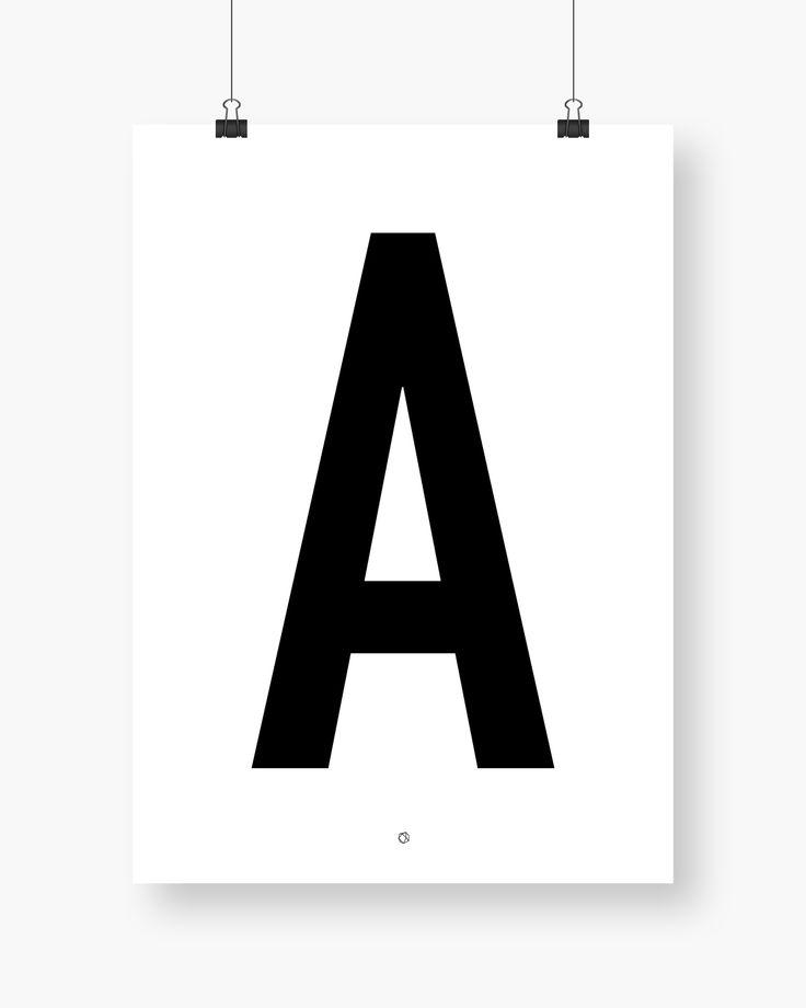 Big & Bold A #typography #typographyposter #letterposter #minimalistisk #minimalisticposter #cleanposter #enkontrast #enkontrastposter