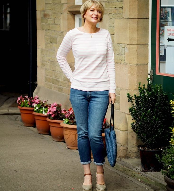 Mature woman jeans stock photos, images photography