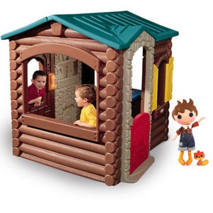 Lalaloopsy™ Forest Evergreen™ & Log Cabin Bundle~ What a perfect bundle! This Lalaloopsy doll, Forrest Evergreen, has an outfit made from pieces of a lumberjack's overalls, and now he has a log cabin to share with your child! The Little Tikes Log Cabin is loaded with features like a pretend stone fireplace and working doors and shutters.