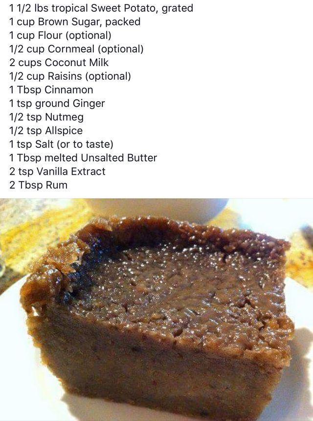 Sweet Potato Pone Sweet Potato Pudding Jamaican Sweet Potato Pudding Potato Pudding