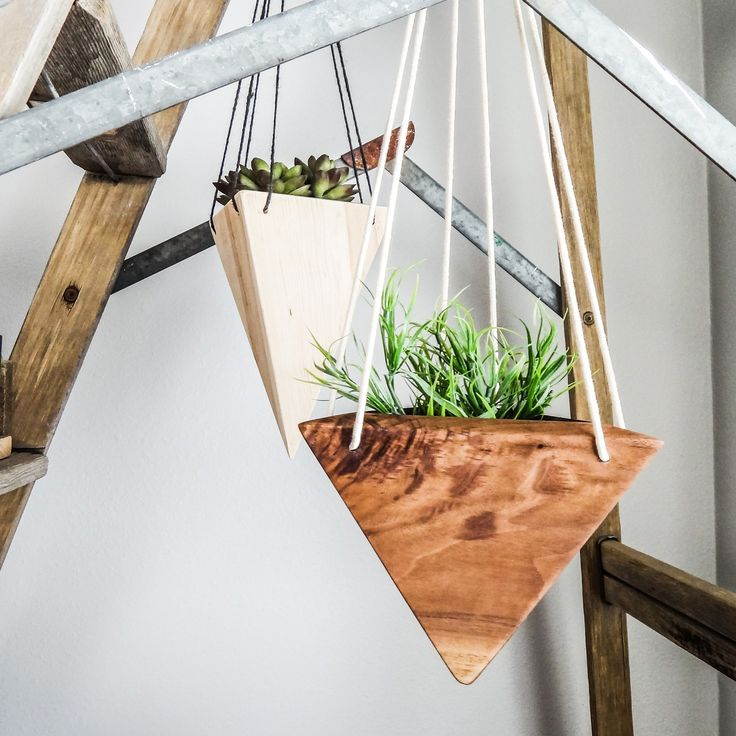 Geometric Hanging Planter   Maple