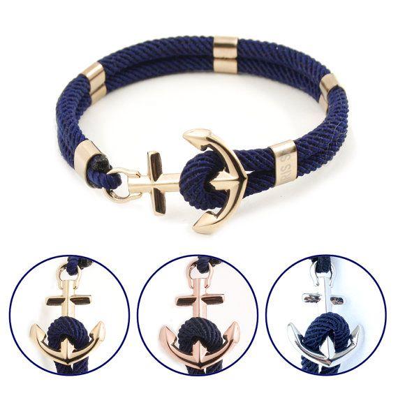 Anker Armband - nautische Armband - New Haven in Ihrer Wahl von Metall - wasserdicht
