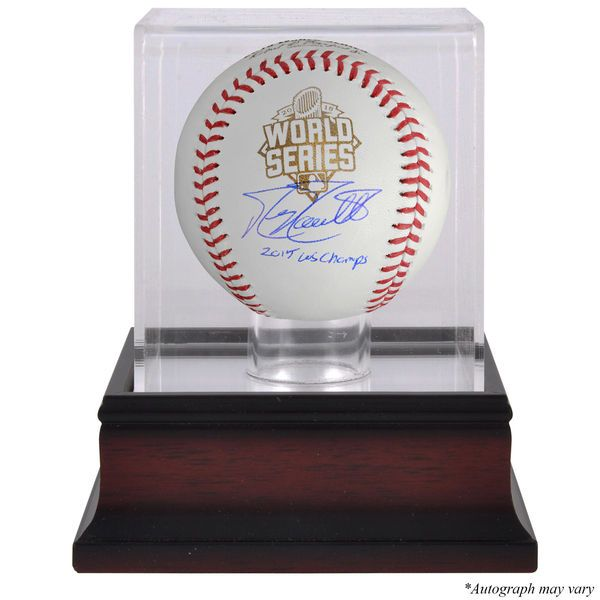 Mike Moustakas Kansas City Royals Fanatics Authentic Autographed 2015 MLB World Series Champions World Series Baseball with 15 WS Champs Inscription and Mahogany Baseball Display Case - $199.99