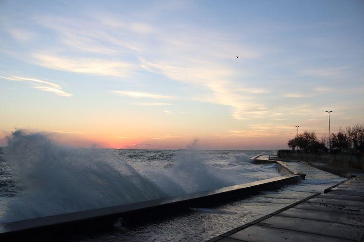 Wave covered sunset by Oğuzhan Karaçakır - Photo 130171333 - 500px