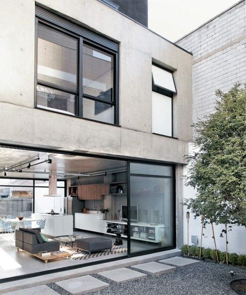 Wonderful concrete and big windows !!!