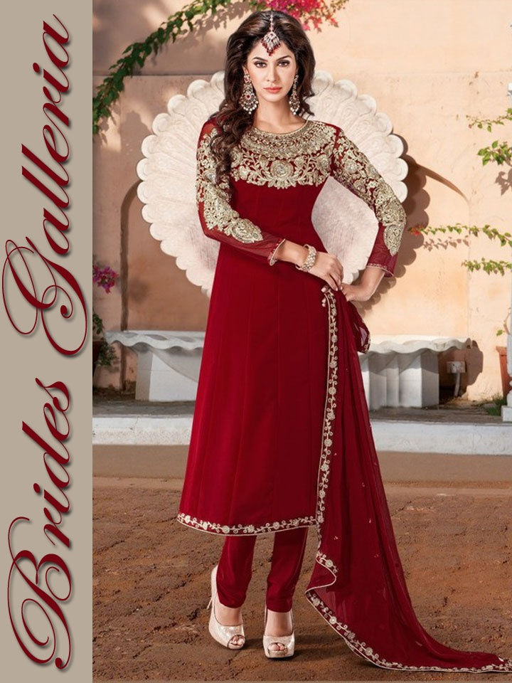 deep red; i'd like the top to be a kameez
