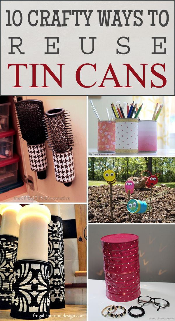 728 best images about can crafts on pinterest popcorn for Handmade craft ideas reuse household items