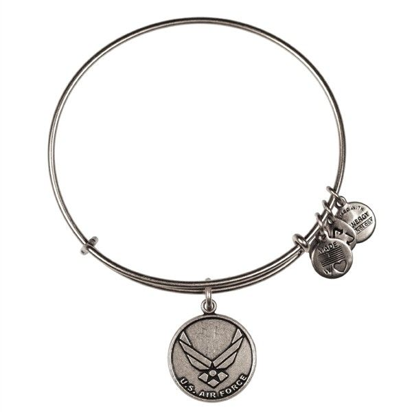 U.S. Air Force Bracelet . Love Charm Bracelets, would love a armful of Alex and Ani as a modern version of one. My first one! Great way to start and the sentiment behind it made me cry.