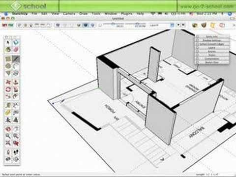 Take a floor plan and quickly turn it into a house using SketchUp. Need to know SketchUp? MORE TUTORIALS: http://www.sketchupschool.com/sketchup-tutorials