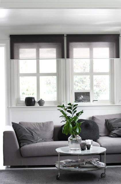 white and grey Scandinavian living room