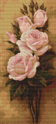 Pink Roses Cross Stitch Kit By Luca S (one)