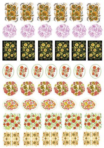 Декупажная карта цветочная | Ручная работа Жанны Кумара оригинал качайте по ссылке