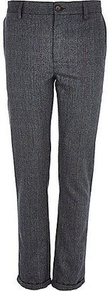 River Island MensBlue check wool-blend skinny pants - Shop for women's Pants - Blue Pants