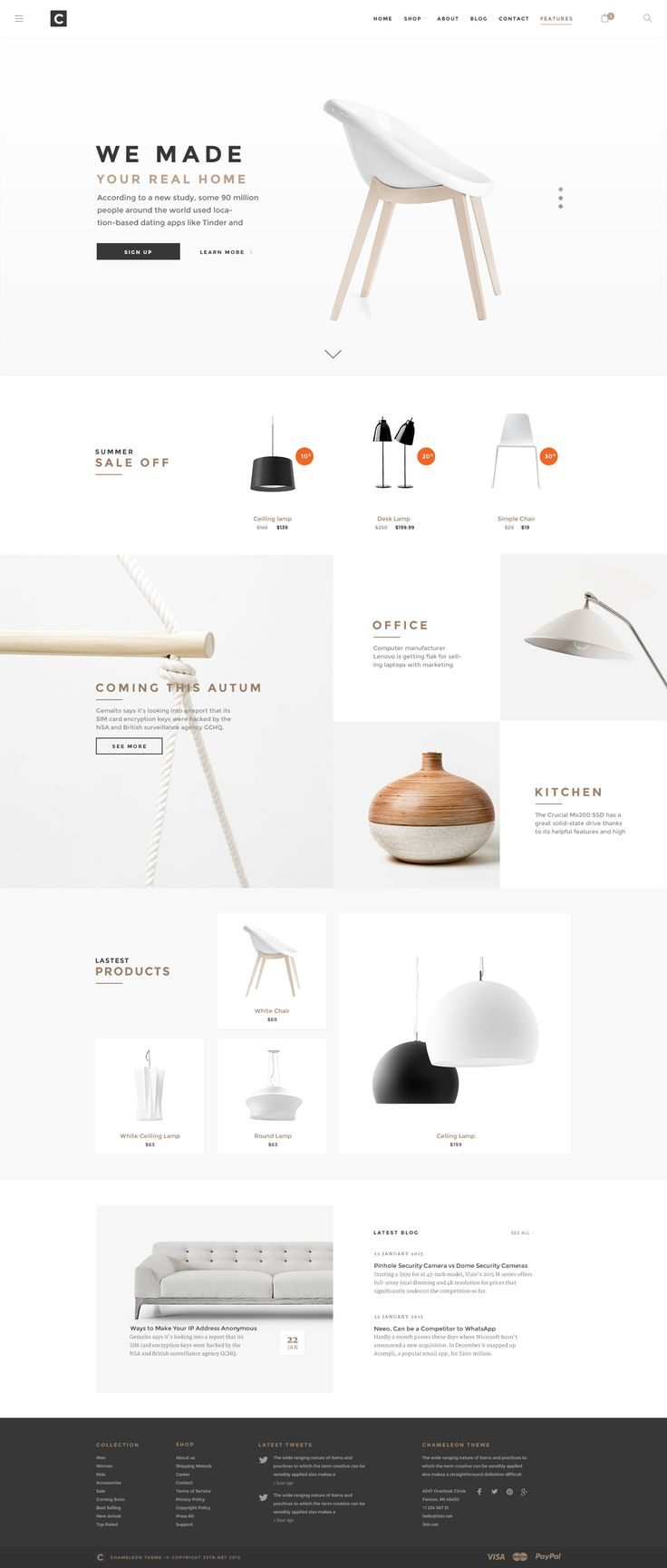 Chameleon Shop Psd Template Is An Unique Ecommerce Psd Template For On Online Shopping Store Home Goods