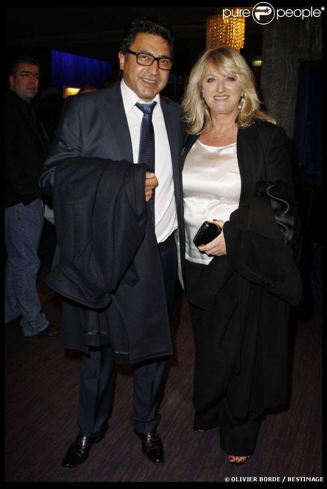 Charlotte de Turckheim et son compagnon Zaman en février 2012 à Paris