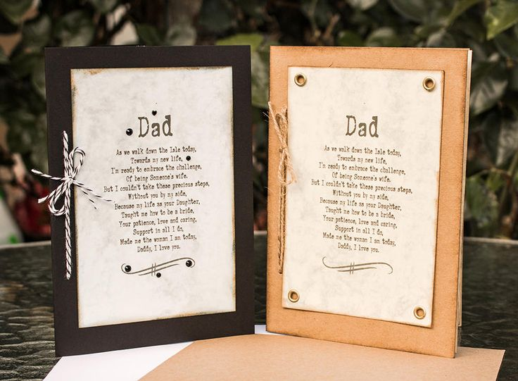 Wedding Poem from the Bride to her Dad, Dad Poem Gift, Dad Poem Card, Father of the Bride Card, Wedding Card, Gift for Dad, Gift for Father by SBsPrintables on Etsy