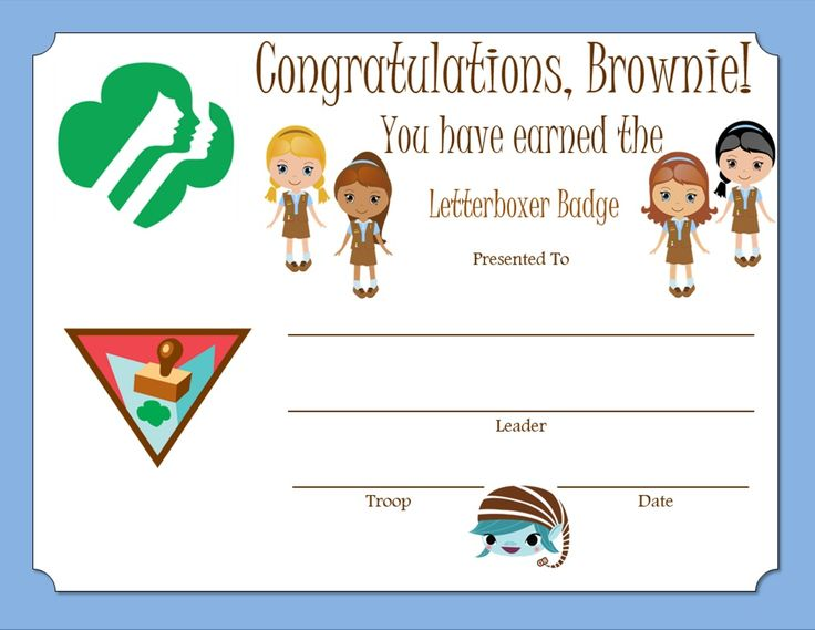 232 best Girl Scout certificates images on Pinterest Behavior - congratulations certificate