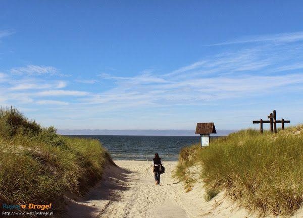 Zejście na plażę w Czołpinie, #Poland