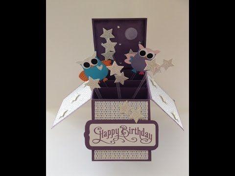 ▶ 3D Card In A Box - Hoot-astic design - YouTube