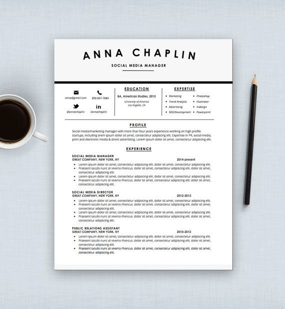 1000+ images about Resumes on Pinterest Cv template, Resume - social media manager cover letter