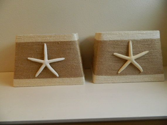 Beachy Starfish Lampshades Coastal Decor set of by Tersjustbeachy, $60.00