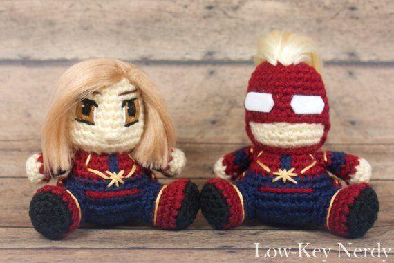 Captain Marvel crochet amigurumi avengers toy by VictoriaYevl on ... | 380x570