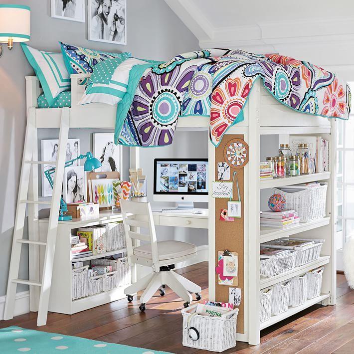 25 best ideas about loft bed desk on pinterest bunk bed. Black Bedroom Furniture Sets. Home Design Ideas