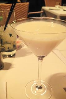 White chocolate martini from Beluga- heavenly!